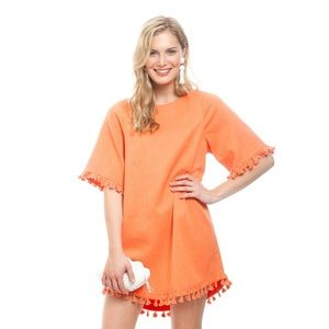 Blaque Label Tassel Dress in Orange Medium